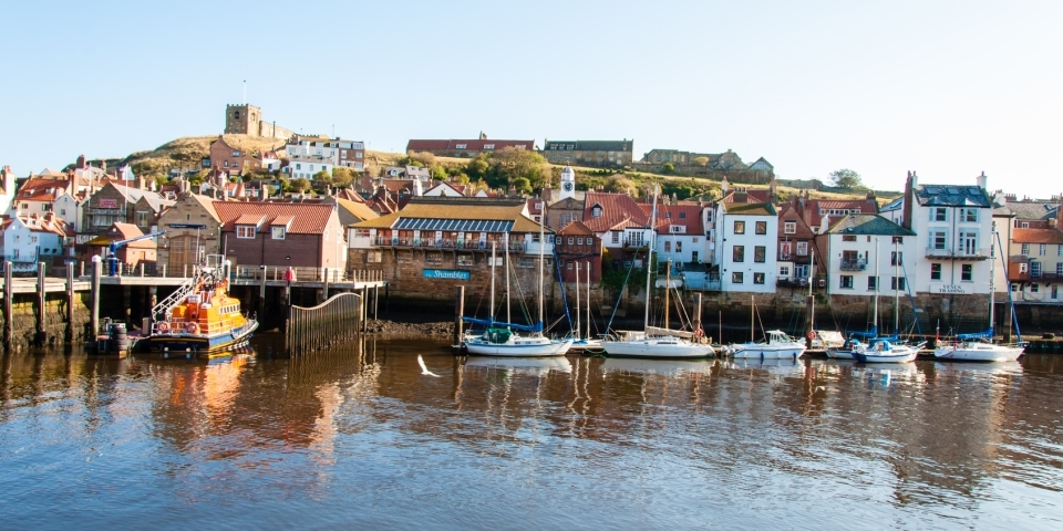 The scenic port of Whitby is only a few miles from Grouse Hill Park