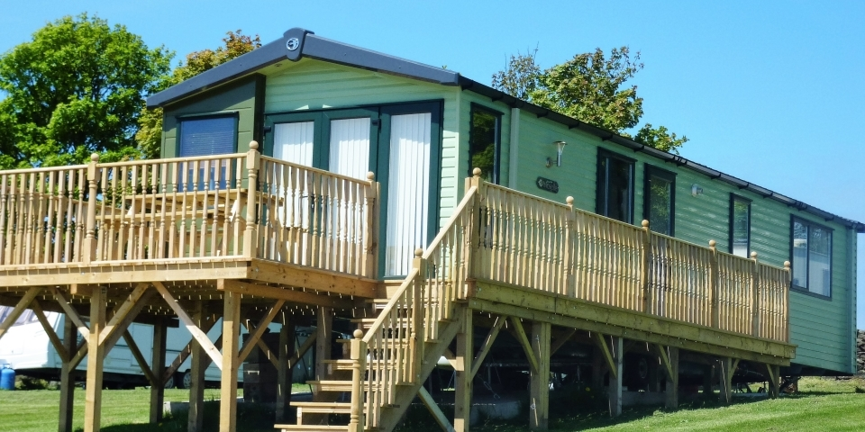 Static Caravan at Grouse Hill Camping and Glamping