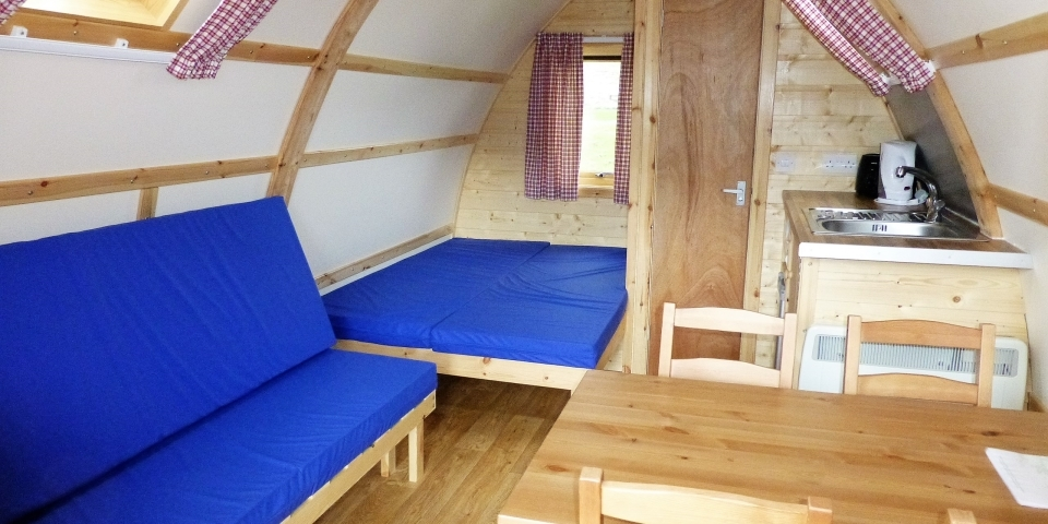 Wigwam® Cabin glamping interior with ensuite facilities